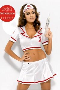Poze Costum sexy EMERGENCY SKIRTY SET (cu stetoscop)