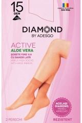 Sosete 1/4 Active Ecofeel cu Aloe Vera - set 2 buc 15 DEN