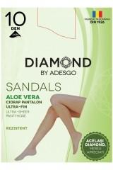 Ciorapi Sandals cu Aloe Vera 10 DEN