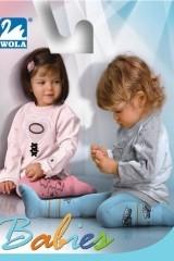 Ciorapi din bumbac cu model pentru baieti Wola Babies W 18N01 0-2 ani