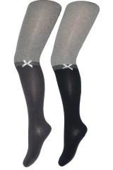 Ciorapi fetite Syntex Tuptusie doua culori RK 0244