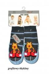 Sosete bebelusi cu talpa din piele RiSocks art.5692846 (baieti)
