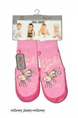 Sosete bebelusi cu talpa din piele RiSocks art.5692846 (fetite)