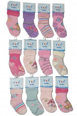 Poze Sosete bebelusi flausate YO! Girls SKF ABS 14-20 (12 perechi)