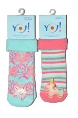 Sosete bebelusi cu zornaitoare YO! SKC Toys Girl