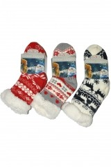 Sosete de casa copii RiSocks Winter Slippers Stele art.2990 ABS