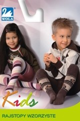 Ciorapi copii din bumbac cu model Wola Kids