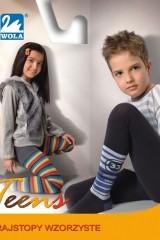 Ciorapi copii din bumbac cu model Wola Teens