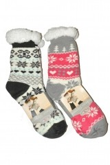 Sosete de casa dama RiSocks Winter Slippers Stele art.2983 ABS