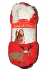 Balerini de casa dama RiSocks X-mas Ballerina art.2938 ABS