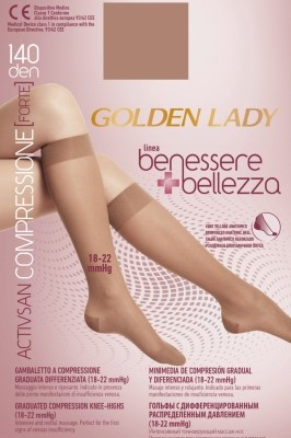 Poze Sosete inalte Golden Lady Benessere & Bellezza 140 den