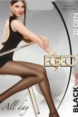 Ciorapi dama Egeo Black Velvet 20 den 5-XL