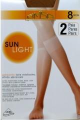 Sosete inalte Omsa  Sun Light 8 den -2 perechi
