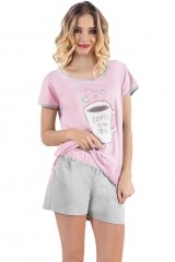 Pijama de dama Coffee kr.r. kr.sp.