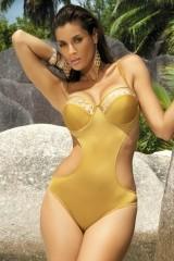 Costum de baie Diana M-184 auriu (56)