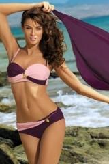 Costum de baie Liliana Vigneto-Rosa Confetto M-259 (Violet-Roz deschis)