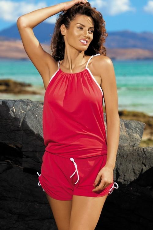 Salopeta de plaja Leila Anaranjado M-312 (Rosu)