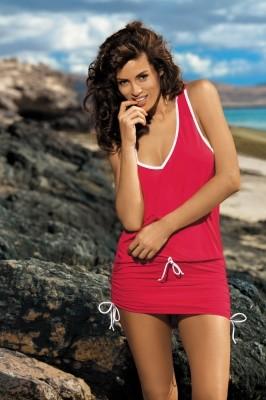 Poze Rochie de plaja Elsa Anaranjado M-313 (Rosu)