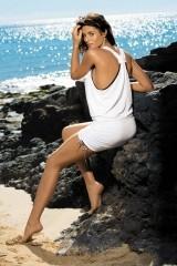 Rochie de plaja Elsa Bianco M-313 (Alb)