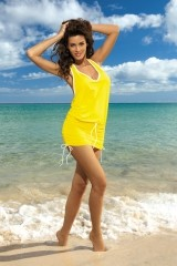 Rochie de plaja Elsa Limon M-313 (Galben)