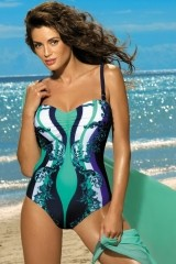 Costum de baie Miriam Cosmo-Maladive M-329 (Bleumarin-Verde)