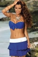 Fusta de plaja Mila Blu Persia-Bianco M-334