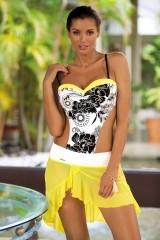 Fusta de plaja Kayla Lime-Bianco M-363 (02)