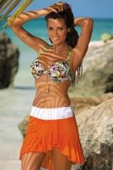 Fusta de plaja Kayla Gerbera-Bianco M-363 (06)