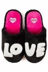 Soxo 2804 Papuci de casa LOVE cu talpa cauciucata
