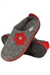 Papuci de casa cu flori 43374
