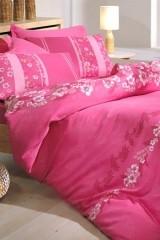 Lenjerie de pat din bumbac satinat Dolphin Vera roz - 2 persoane