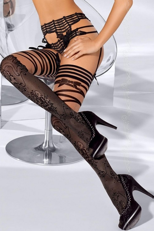 Ciorapi 3/4 cu banda adeziva FRENCH KISS